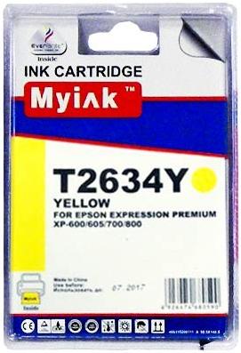 Картридж совместимый MyInk T2634 желтый для Epson