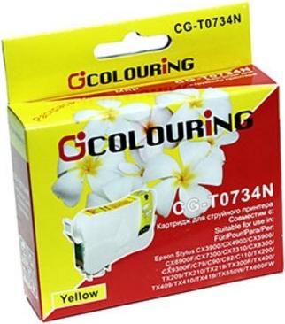 Картридж совместимый Colouring 0734N для Epson желтый