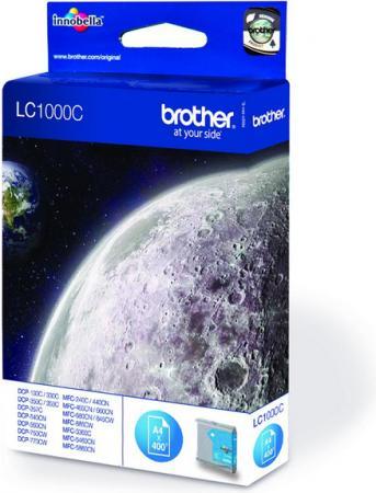 Картридж Brother 1000C голубой совместимый Unijet