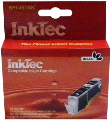 Картридж совместимый InkTec CLI-451XLBK черный для Canon