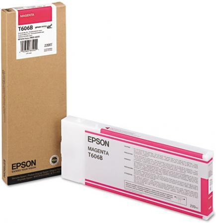 Картридж EPSON T606B00 пурпурный оригинальный