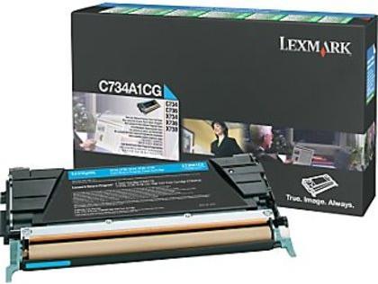 Картридж Lexmark C734A1CG голубой оригинальный