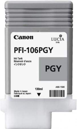 Картридж PFI-106 PGY для Canon серый фото
