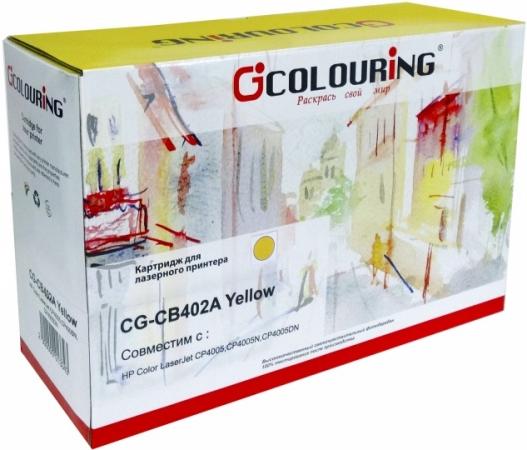 Картридж совместимый Colouring CB402A для HP желтый