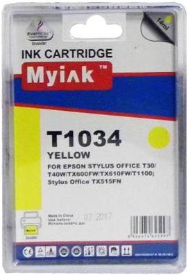 Картридж совместимый MyInk T1034 желтый для Epson