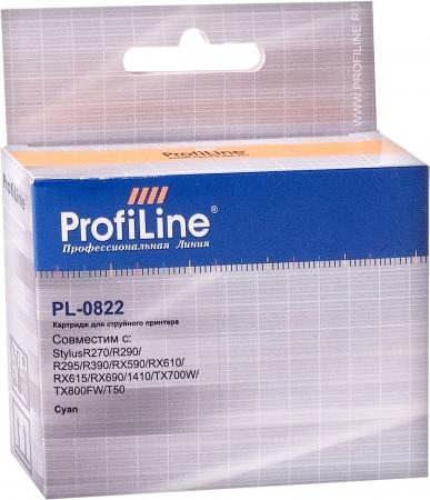 Картридж совместимый ProfiLine 0822 для Epson голубой