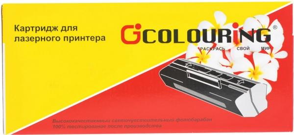 Картридж совместимый Colouring Q6001A/707 для HP и Canon голубой