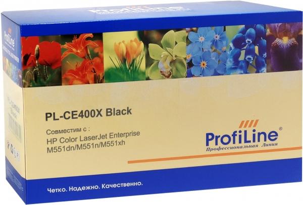 Картридж совместимый ProfiLine CE400X Black для HP