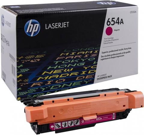 Картридж HP CF333A (654A) пурпурный оригинальный