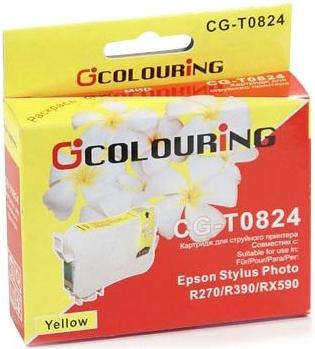 Картридж совместимый Colouring 0824 для Epson желтый