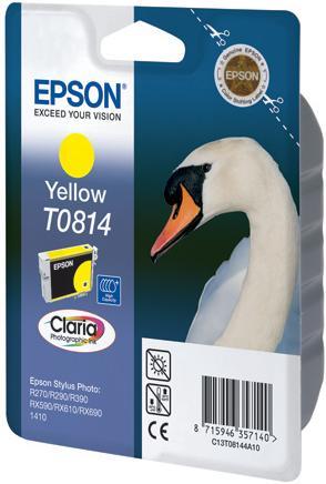 Картридж EPSON T08144A желтый оригинальный