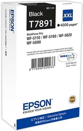 Картридж Epson T7891 XXL (C13T789140) черный оригинальный