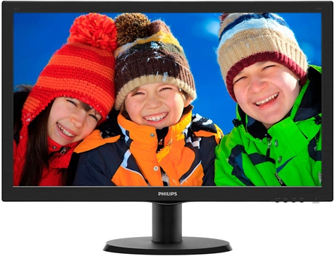 "Монитор 23.6"" PHILIPS 243V5LSB5/00 Black"