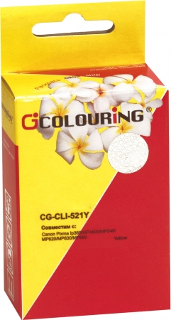 Картридж совместимый Colouring CLI-521Y для Canon с чипом