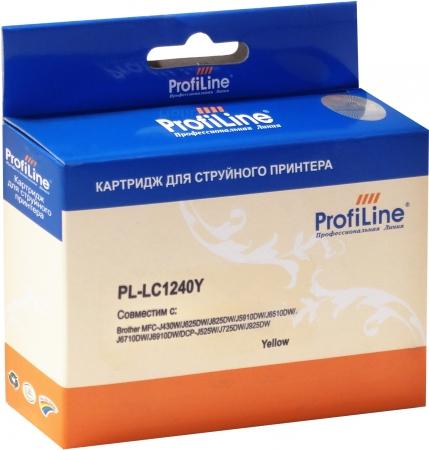 Картридж совместимый ProfiLine LC1240Y для Brother желтый