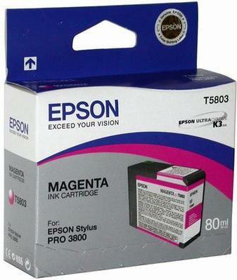 Картридж Epson C13T580300 пурпурный оригинальный