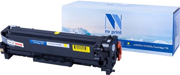 Картридж совместимый NVPrint CE412A/CC532A/Canon 718 для HP и Canon желтый