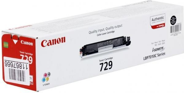 Картридж Canon Cartridge 729Bk оригинальный