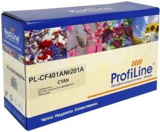 Картридж совместимый ProfiLine CF401A голубой для HP