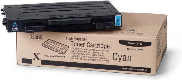 Картридж XEROX 106R00680 голубой оригинальный