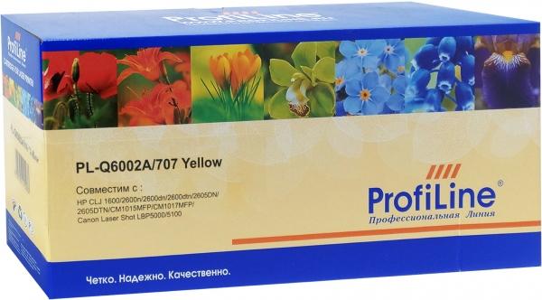 Картридж совместимый ProfiLine Q6002A/707 Yellow для HP