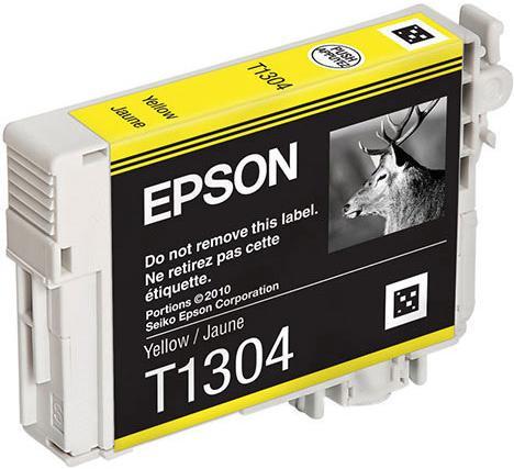Картридж EPSON C13T13044010 желтый оригинальный