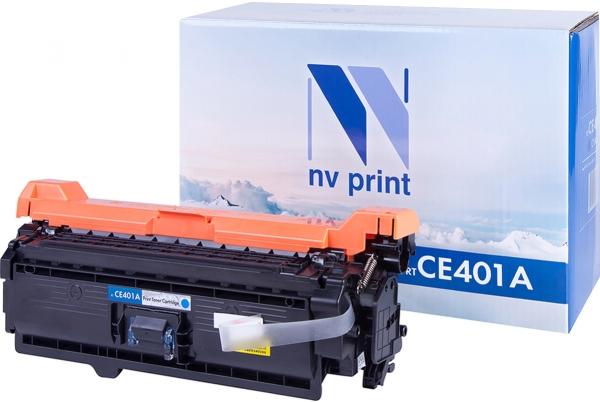Картридж совместимый NVP CE401A синий для HP