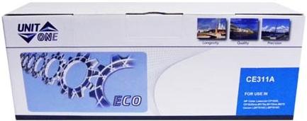 Картридж HP CE311A голубой совместимый UNITON Eco