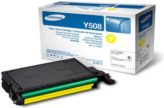 Картридж Samsung CLT-Y508S желтый оригинальный