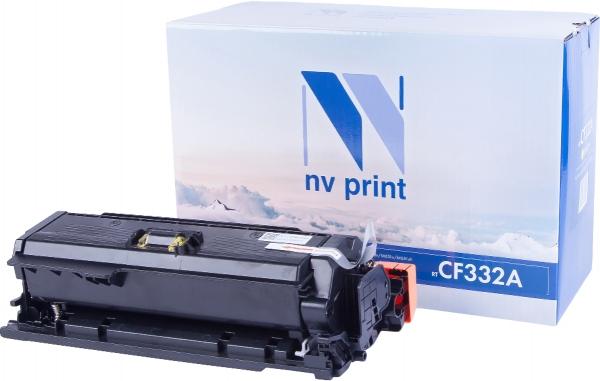 Картридж совместимый NVPrint CF332A для HP желтый