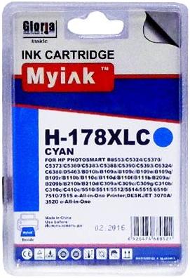 Картридж совместимый MyInk CB323 синий для HP