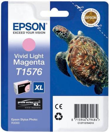 Картридж Epson C13T15764010 светло-пурпурный оригинальный