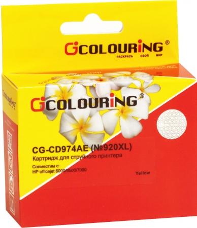 Картридж совместимый Colouring CD974AE №920XL для HP желтый