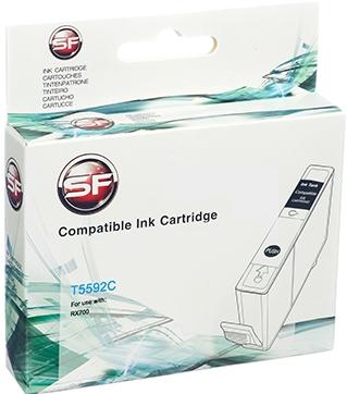 Совместимый картридж SuperFine Т5592 голубой для EPSON