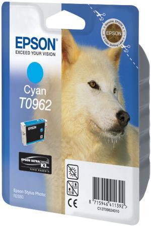 Картридж EPSON T09624010 голубой оригинальный