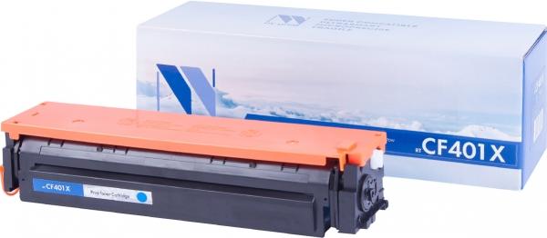 Картридж совместимый NVPrint CF401X для HP голубой