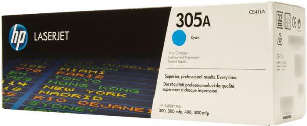 Картридж HP CE411A синий оригинальный