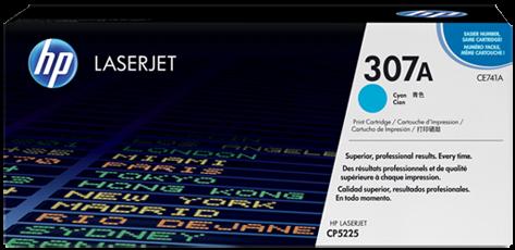 Картридж HP CE741A голубой оригинальный