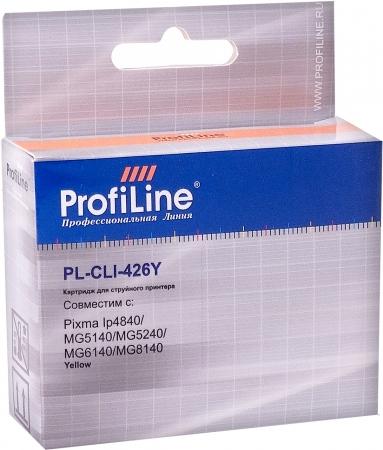 Картридж совместимый ProfiLine CLI-426Y для Canon желтый с чипом