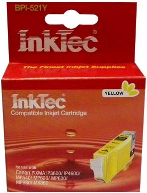 Картридж совместимый InkTec 521Y желтый для Canon