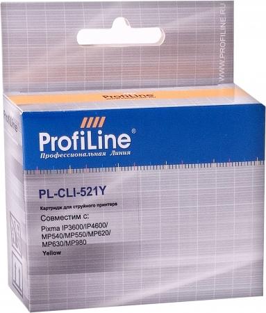 Картридж совместимый ProfiLine CLI-521Y для Canon с чипом