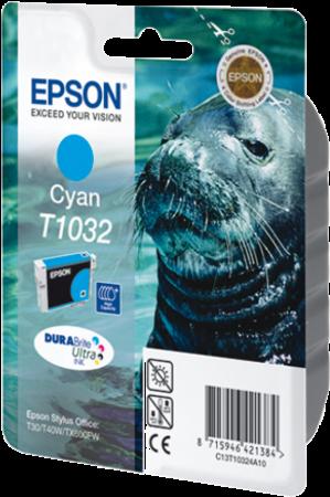 Картридж EPSON T10324A голубой оригинальный