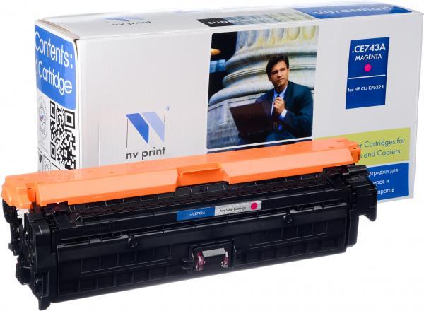 Картридж совместимый NV Print CE743A пурпурный для HP
