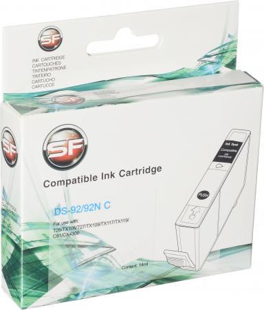 Картридж совместимый SuperFine T0922 голубой для Epson