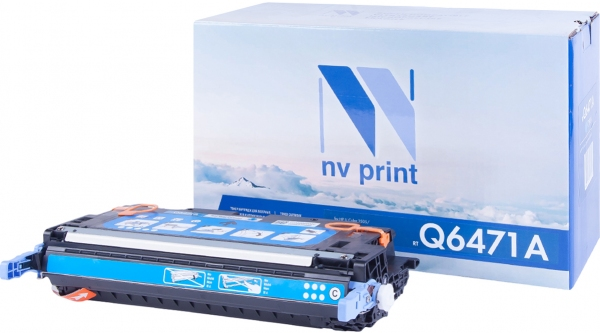 Картридж совместимый NV Print Q6471A голубой для HP