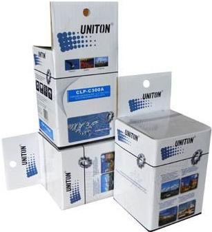 Тонер-картридж совместимый UNITON CLP-C300A голубой для Samsung