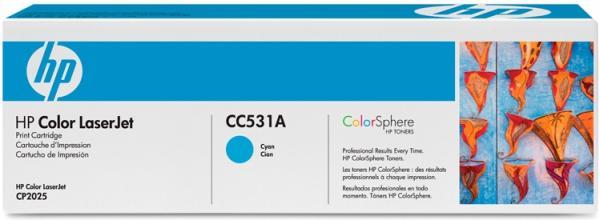 Картридж HP CC531A голубой совместимый UNITON Eco