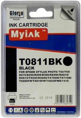 Картридж совместимый MyInk T0821 черный для Epson