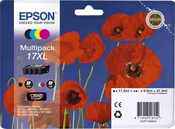 Набор картриджей EPSON для Expression Home C13T17164A10 четырехцветный оригинальный