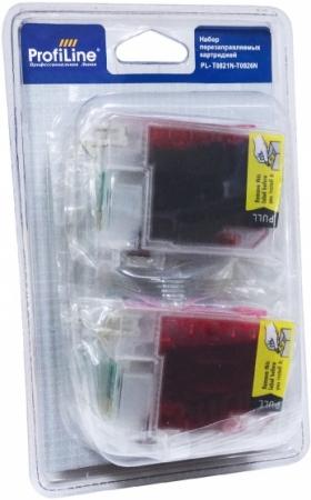 Картриджи перезаправляемые совместимые ProfiLine T0821N-T0826N для Epson